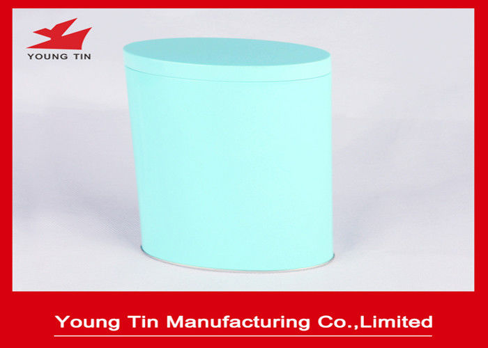 Metal Tinplate Material Oval Tin Box For Candy Sweets Packaging YT1062